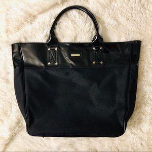 {Versace} Parfums Black tote bag